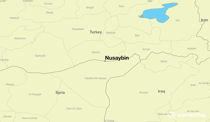map showing the location of Nusaybin