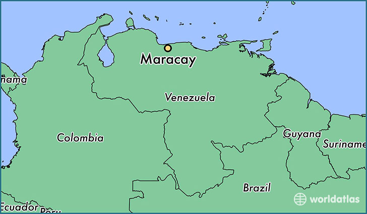 map showing the location of Maracay