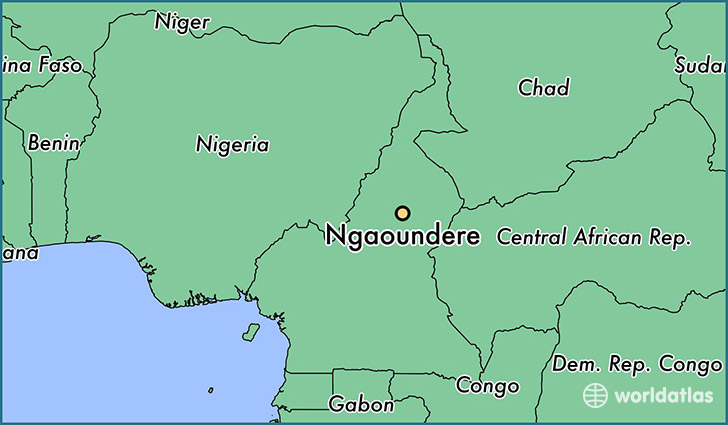 map showing the location of Ngaoundere