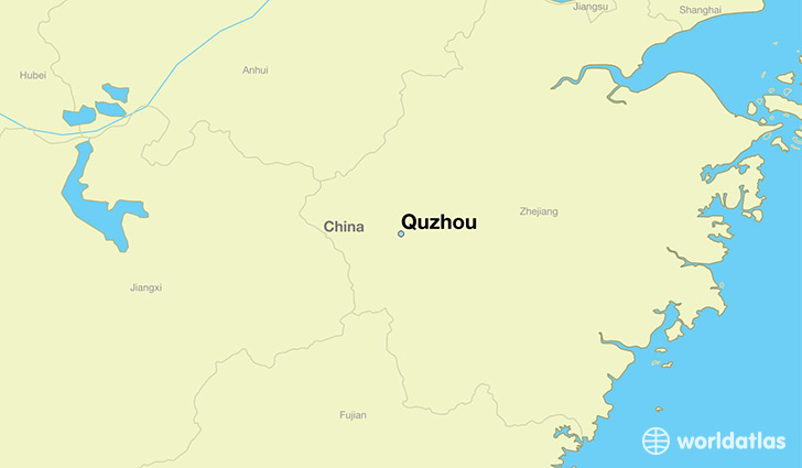 map showing the location of Quzhou