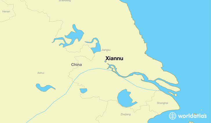 map showing the location of Xiannu