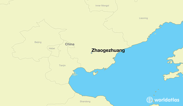 map showing the location of Zhaogezhuang
