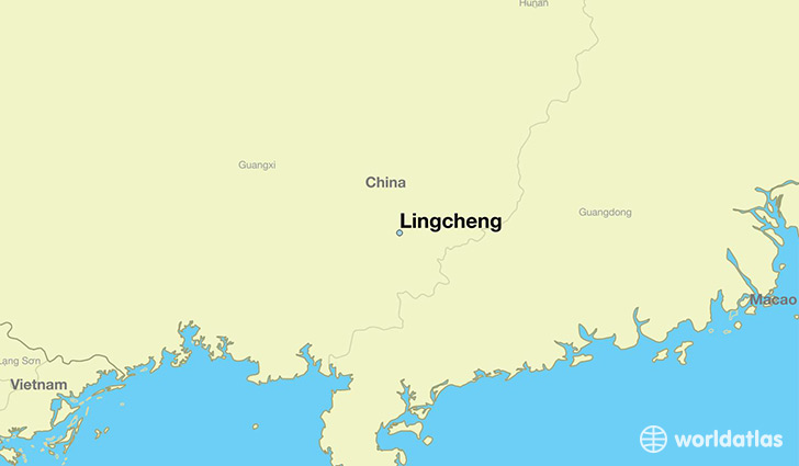 map showing the location of Lingcheng