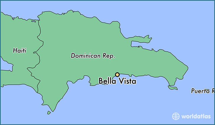 map showing the location of Bella Vista