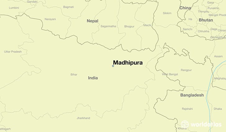 map showing the location of Madhipura