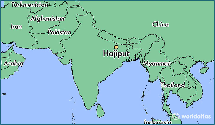 map showing the location of Hajipur