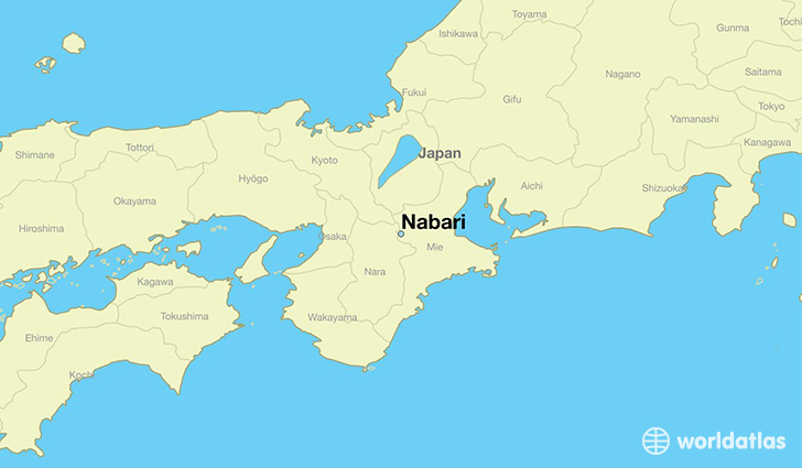map showing the location of Nabari