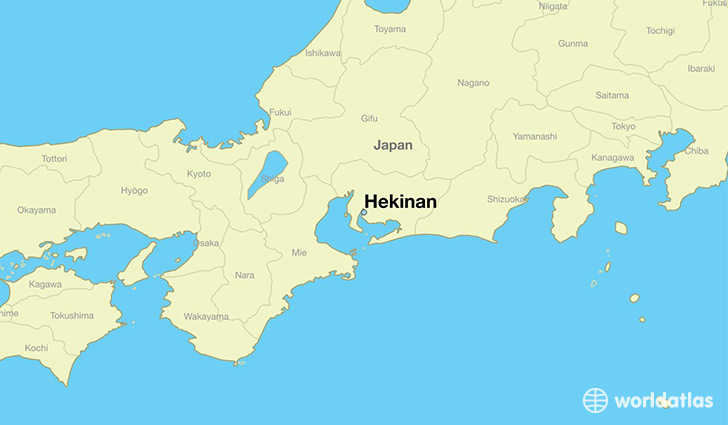 map showing the location of Hekinan