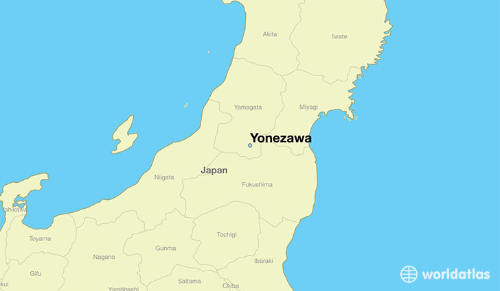 map showing the location of Yonezawa