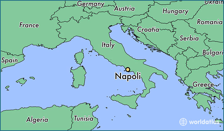 Where is Napoli Italy Napoli Campania Map WorldAtlascom