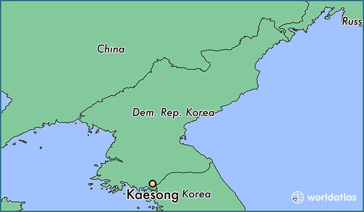 map showing the location of Kaesong