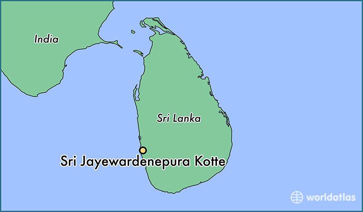 Where is Sri Jayewardenepura Kotte Sri Lanka Sri Jayewardenepura