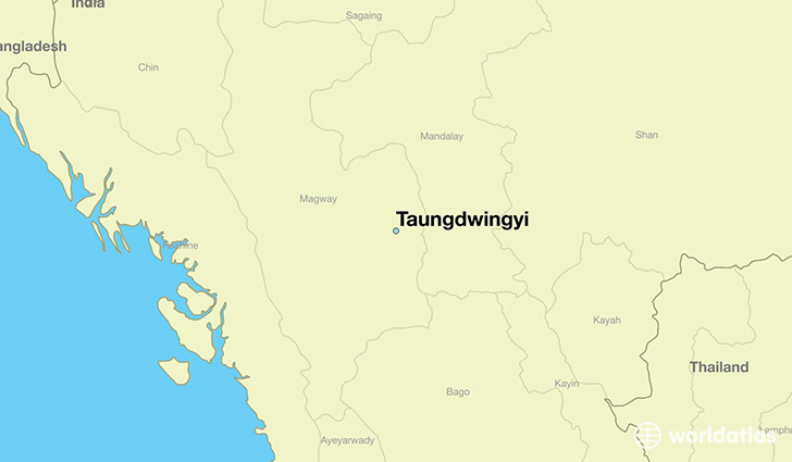 map showing the location of Taungdwingyi