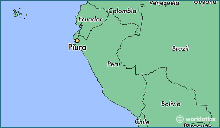 map showing the location of Piura
