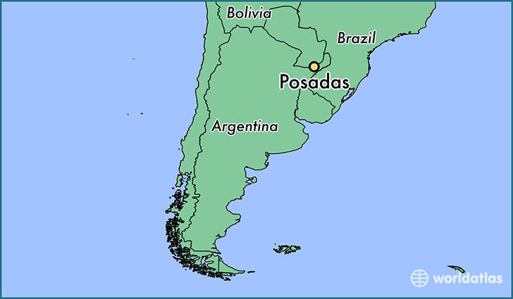 map showing the location of Posadas