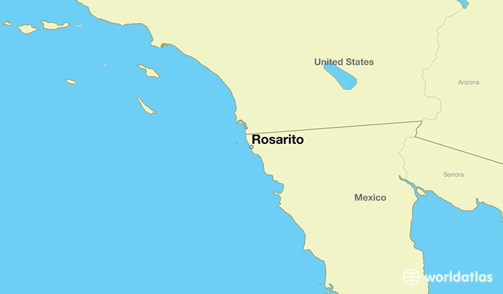 map showing the location of Rosarito