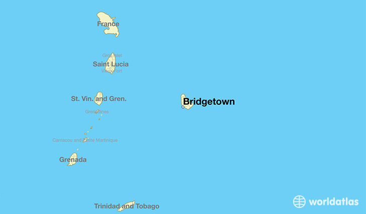 Where is Bridgetown, Barbados? / Bridgetown, Saint Michael Map ...
