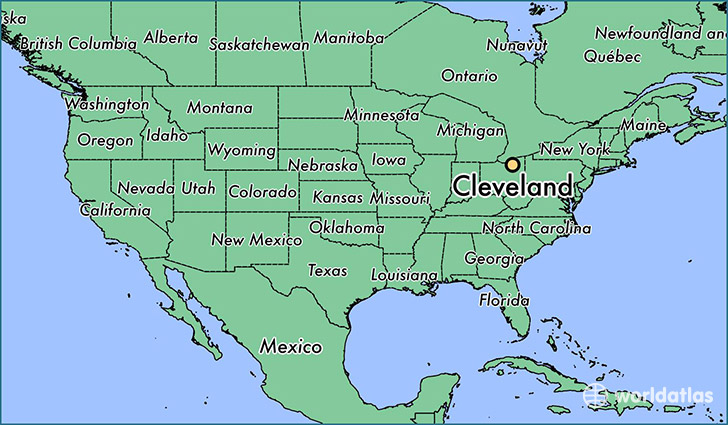 Where Is Cleveland OH Where Is Cleveland OH Located In The - Cleveland ohio usa map