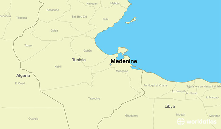 Where is Medenine Tunisia Medenine Madanin Map WorldAtlascom