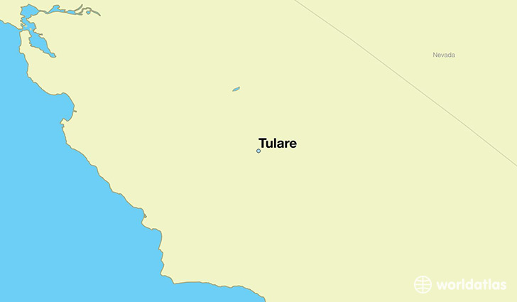 map showing the location of Tulare