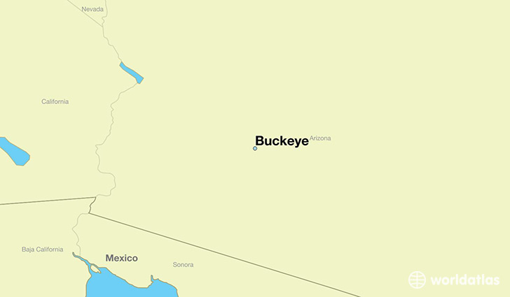 map showing the location of Buckeye