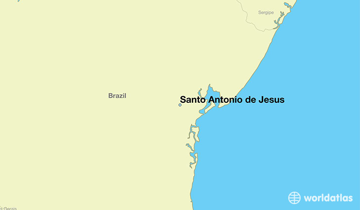 map showing the location of Santo Antonio de Jesus