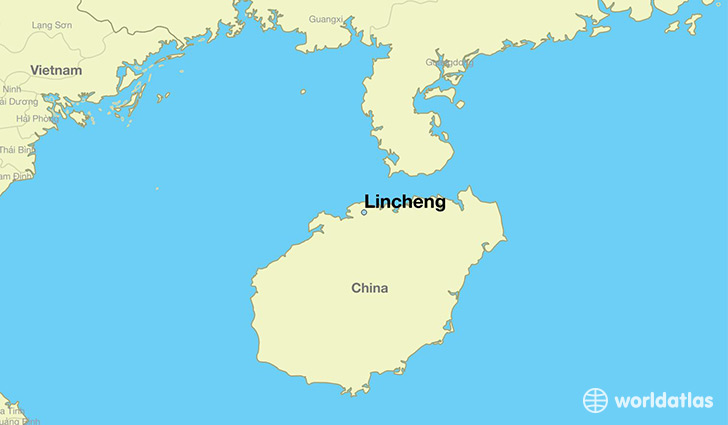 map showing the location of Lincheng
