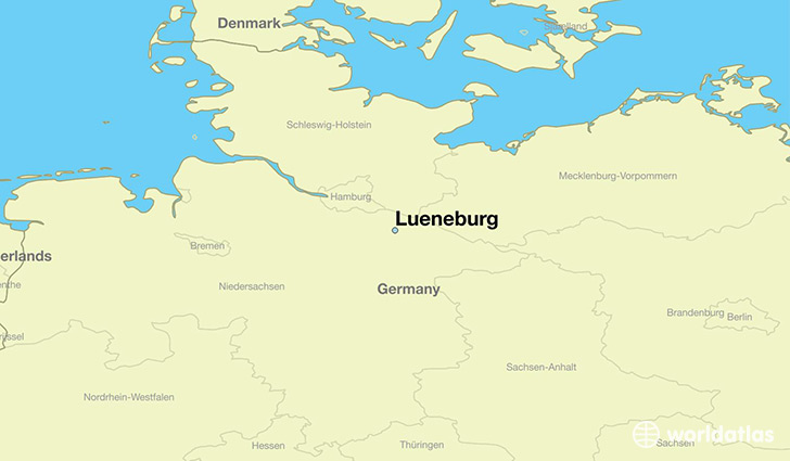 map showing the location of Lueneburg