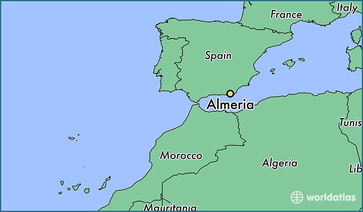 Map Of Spain Almeria.Where Is Almeria Spain Almeria Andalusia Map Worldatlas Com