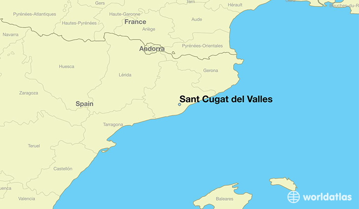map showing the location of Sant Cugat del Valles