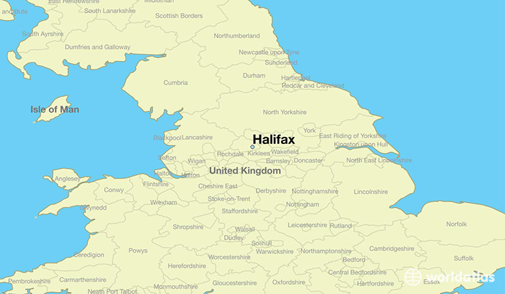 Map Of England Halifax.Where Is Halifax England Halifax England Map
