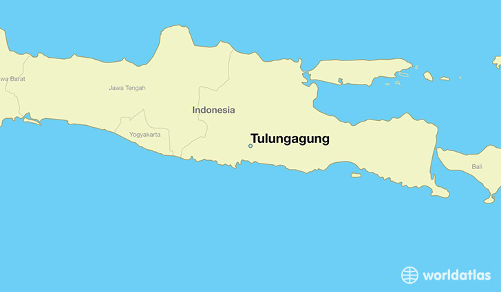 map showing the location of Tulungagung