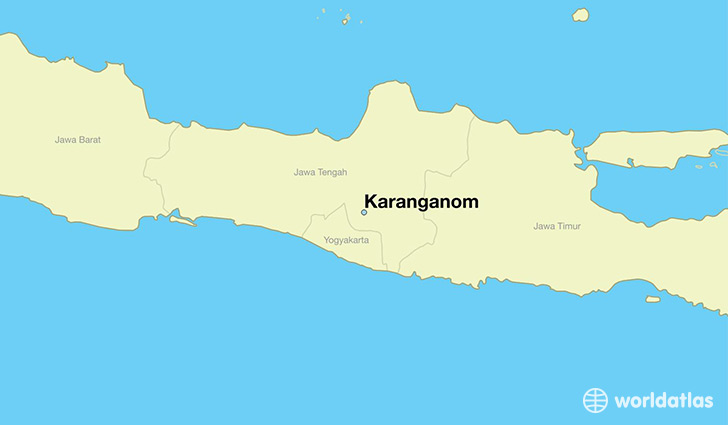 map showing the location of Karanganom