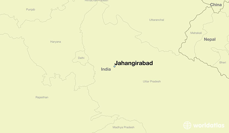 map showing the location of Jahangirabad