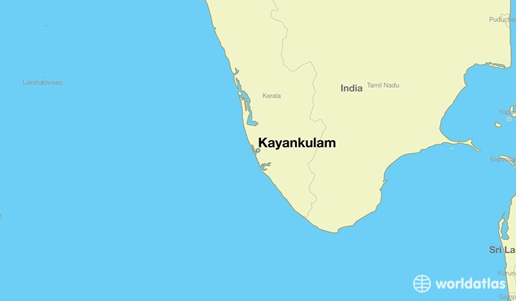 map showing the location of Kayankulam