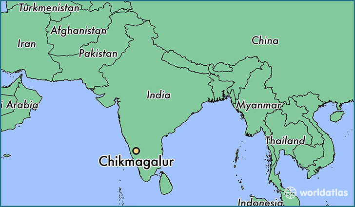 map showing the location of Chikmagalur