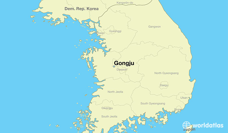 map showing the location of Gongju