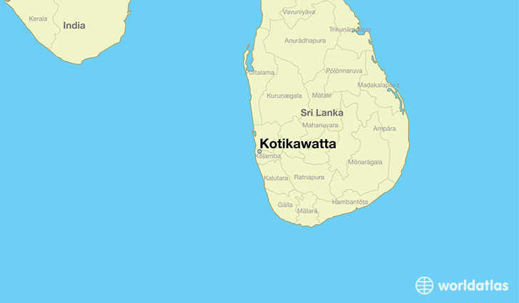 map showing the location of Kotikawatta