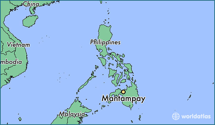 map showing the location of Mantampay