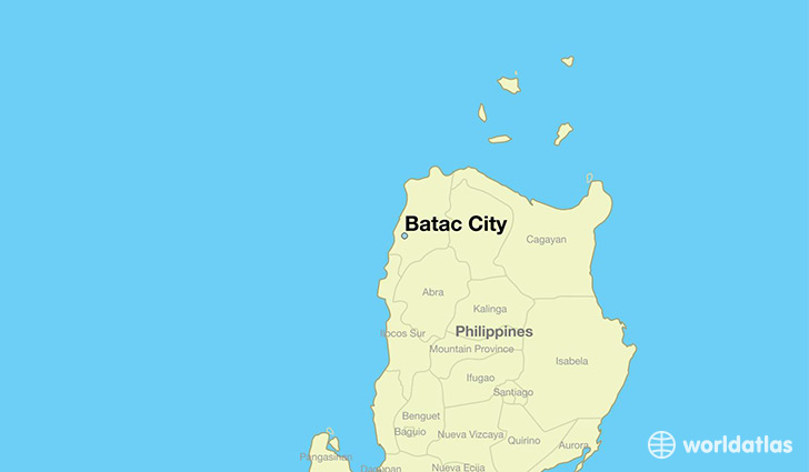 map showing the location of Batac City
