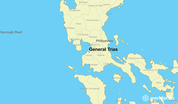 map showing the location of General Trias