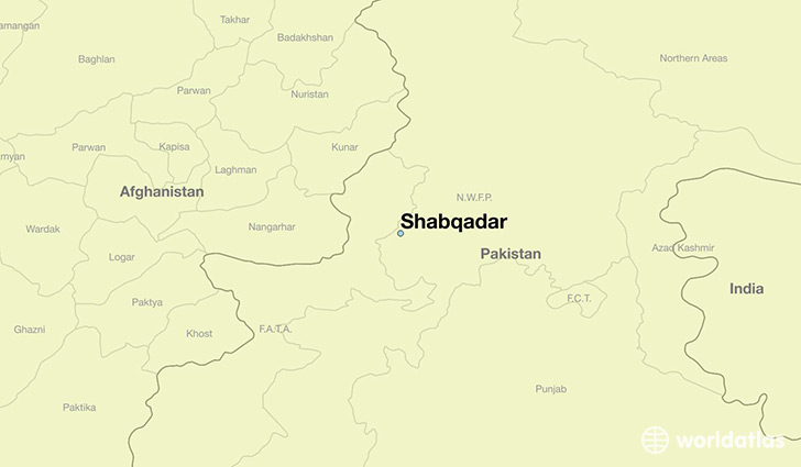 map showing the location of Shabqadar