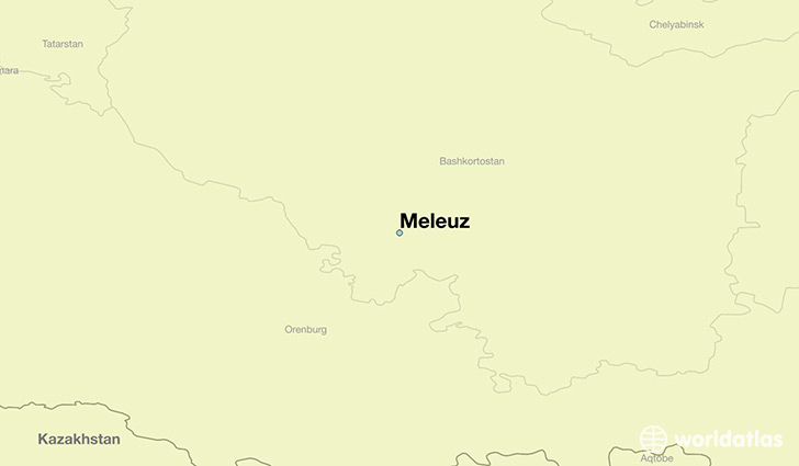 map showing the location of Meleuz
