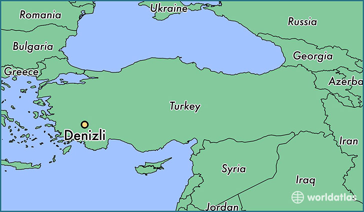 map showing the location of Denizli