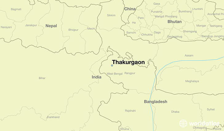 Where is Thakurgaon Bangladesh Thakurgaon Rangpur Division Map