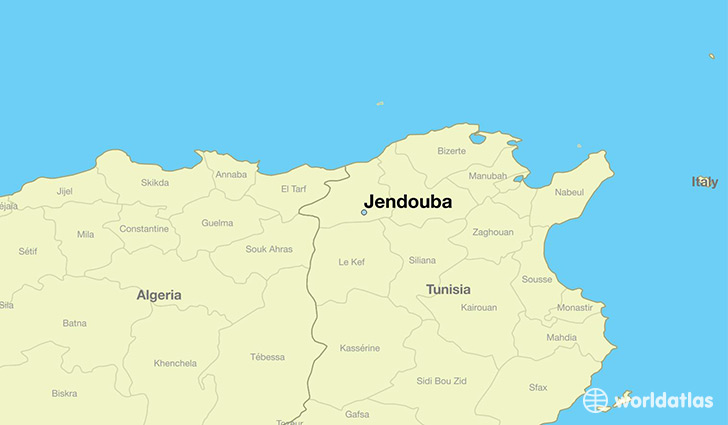 map showing the location of Jendouba