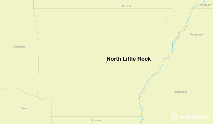 map showing the location of North Little Rock