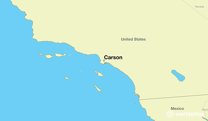 map showing the location of Carson