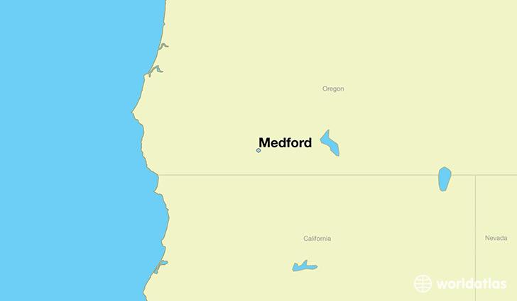 Where is Medford OR Medford Oregon Map WorldAtlascom