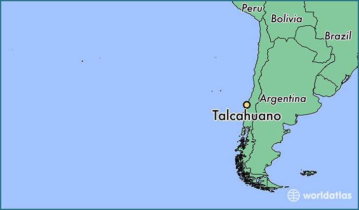 map showing the location of Talcahuano